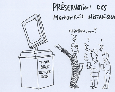 Drawing of the week - Preservation of historical monuments, by Nicolas Vadot